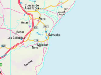 Mojacar Spain Map.Spanish Property Selection Mojacar